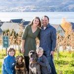 Lybecker Family in Cairdeas Winery vineyard